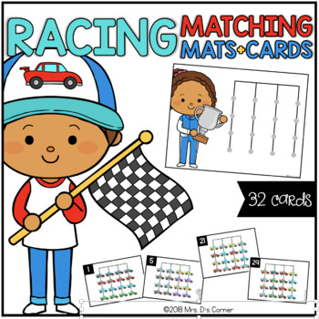 Racers Matching Mats and Activity Cards (Patterns, Colors, and Matching)