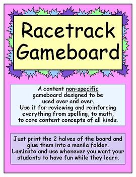 Racetrack Gameboard FREEBIE