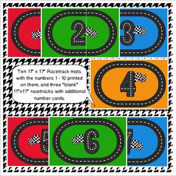 graphic about Race Track Printable referred to as Racetrack Printable Math Perform Dough Mats for Preschool and Kindergarten