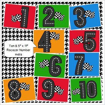 Racetrack Printable Math & Play Dough Mats for Preschool and Kindergarten