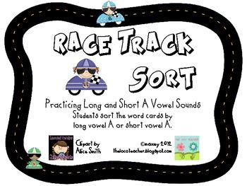 Racetrack Sort - Long and Short A Vowel