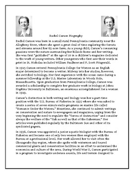 Rachel Carson Biography and Reading Comprehension Assessment