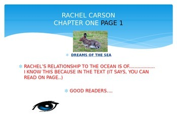 Rachel Carson - Chapter 1 Analyzing Relationships Differentiated Lesson Plan