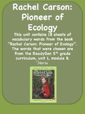 ReadyGen Rachel Carson: Pioneer of Ecology  Vocabulary  Word Wall Cards