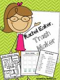 Rachel Eaker: Recycling, Pollution, Conservation, third gr