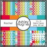12x12 Digital Papers Set: Rachel Collection {A Hughes Design}