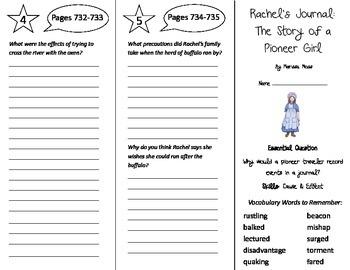 Rachel's Journey Trifold - Journeys 5th Grade Unit 5 Week