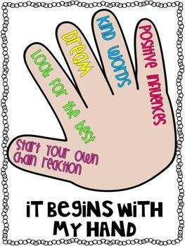 Rachel's Challenge Inspirational Poster set {freebie}
