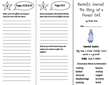 Rachels Journey The Story of a Pioneer Girl Trifold - Journeys 5t G U 5 W 4 2011