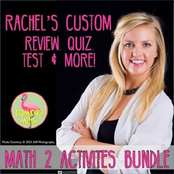 Rachel's Math 2 Review Quiz Test & More (A Custom Product)