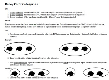 Racial Categories: Marker Simulation