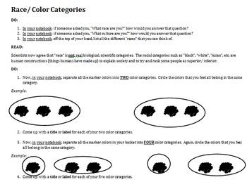 Racial Categories: Marker Simulation