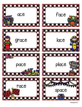 Racin' Readers - Practice with /S/ spelled ce, ci_, or cy