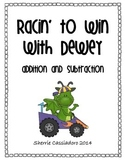 Racin' With Dewey - Practicing Double Digit Addition and S