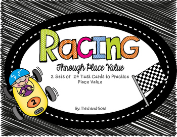 Racing Around Place Value Scoot Game (Differentiated)