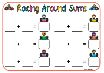 Racing Around Sums- Addition, Subtraction, Multiplication & Division