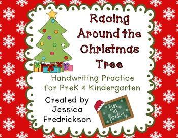 Racing Around the Christmas Tree ~ Handwriting Practice
