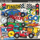 "Racing Car Clip Art: ""Pole Position"""
