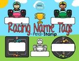 Racing Car Name Tags
