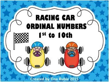Racing Car Ordinal Numbers - Australian Version