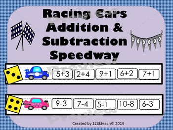 Racing Cars Addition & Subtraction Speedway