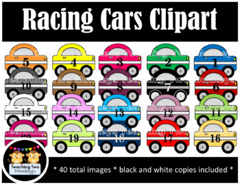 Racing Cars Clipart