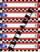 Racing Cars Name Tags Editable