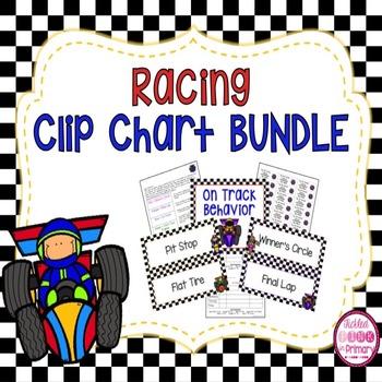Racing Clip Chart Bundle (Editable)