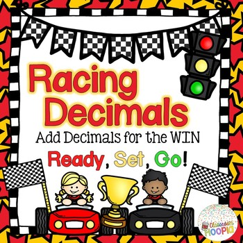 Racing Decimals Addition Math Game