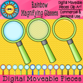 Magnifying Glasses Digital Moveable Clip Art