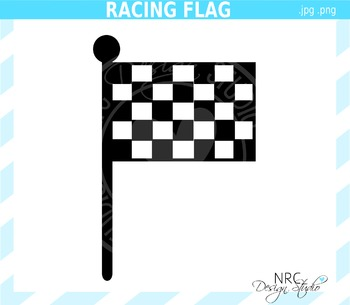 Racing Flag Clip Art - Commercial Use Clipart