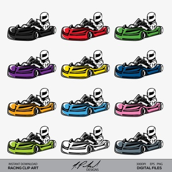 Free Go Kart Racing Clipart | Free Images at Clker.com - vector clip art  online, royalty free & public domain