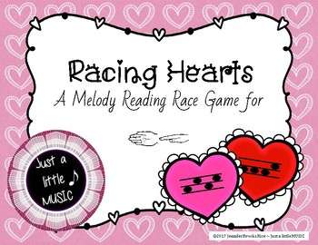 Racing Heart -- a game to practice melodic notation {sol mi}