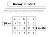 Racing Integers Game Board