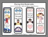 Racing Kids Bookmarks/Bookmarks for Kids/Printable Bookmar