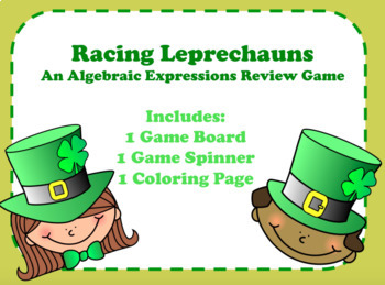 Racing Leprechauns Algebraic Expressions Review Game