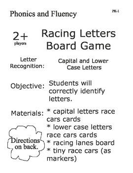 Racing Letters Board Game Improves Letter Recognition with Fun