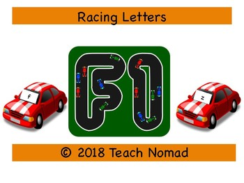Racing Roll and Record Letter Identification Game