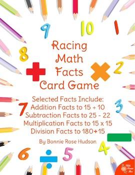 Racing Math Facts Printable Card Game