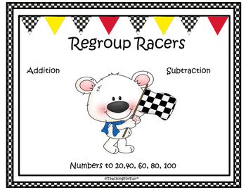 Racing Polar Bears  Adding and Subtracting from 20, 60, 100
