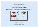 Racing Polar Bears Math Fact Families Addition and Subtraction