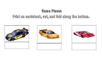 Racing Race Cars for /r/ (I) and 6 variations of vocalic /r/.