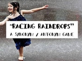 Racing Raindrops- synonym & antonyms practice with colored water