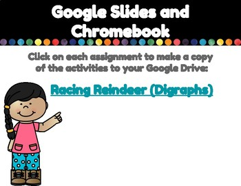 Racing Reindeer (Digraphs)-A Digital Literacy Center (For Google Classroom)