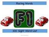 Racing Roll and Record Sight Words Game (100 list)