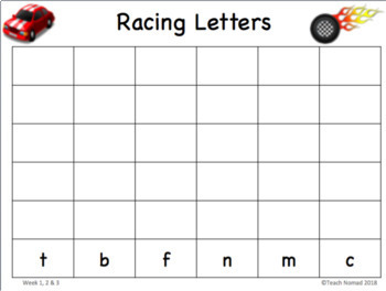 Racing Sight Words & Letters Bundle