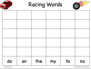 Sight Words & Letter Identification Roll & Record Game Bundle