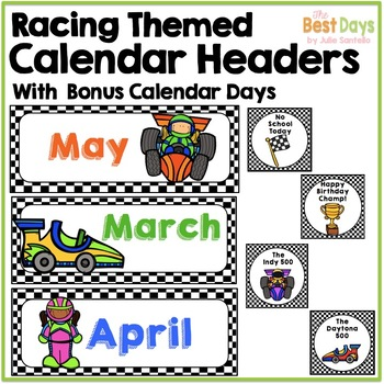 Racing Theme Calendar Headers