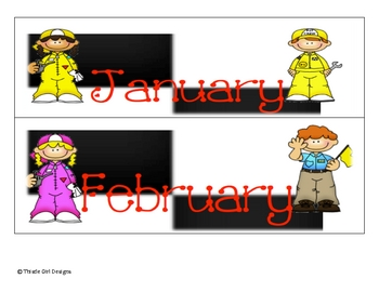 Racing Theme Calendar Headings and Days