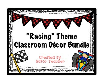 Racing Theme Decor Bundle Packet for Classroom